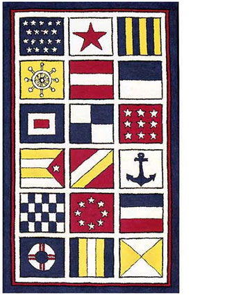 Nautical Flags Children S Rug 11240 Childrens Area Rugs
