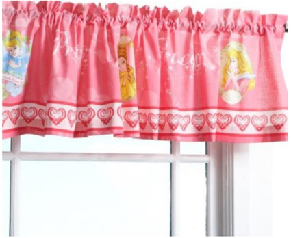 Disney Princess Window Valance Curtain