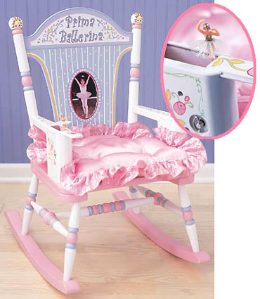 Prima Ballerina Kids Rocking Chair Free Shipping