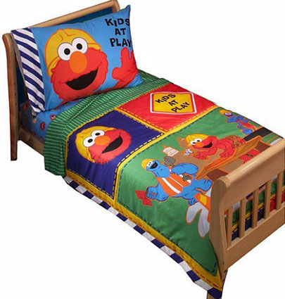 Sesame Street Elmo Toddler Bedding 4 Pc Set Toddler