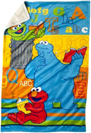 Sesame Street ABC Plush Toddler Blanket