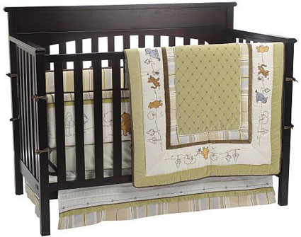 classic winnie the pooh 4 piece crib bedding set by