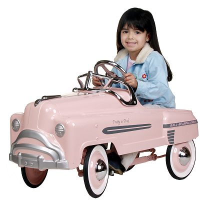 pretty in pink girls pedal car