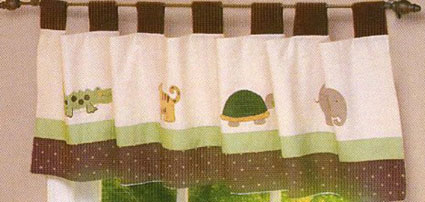 NoJo Jungle Mania Window Valance