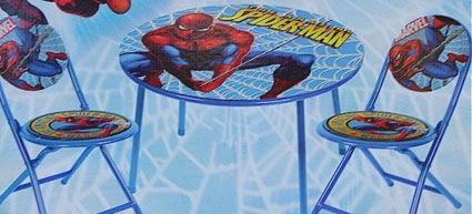 The Amazing Spiderman 3 Piece Folding Table Amp Chair Set