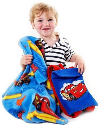 Disney Cars Blanket with Toddler Backpack
