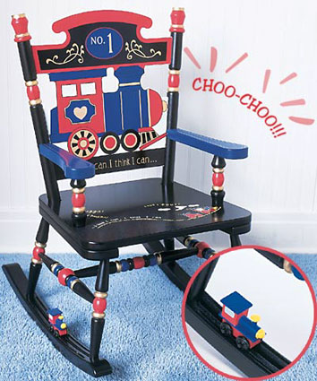 Railroad Rocker Kids Rocking Chair Free Shipping