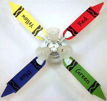 Out of Stock Crayon Baby Nursery Ceiling Fan with Lights