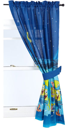 SpongeBob Squarepants Under the Stars Window Drapes