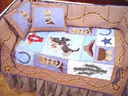 Out of Stock Cowboy 6 Piece Crib bedding Set