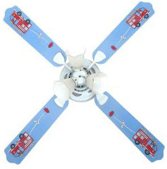 Out of Stock Firetruck Kid's Ceiling Fan with Lights