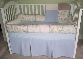 Nursery Rhyme Style B 4-Piece Crib Bedding Set