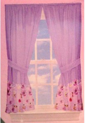 Disney Fairies Like the Wind Window Drapes