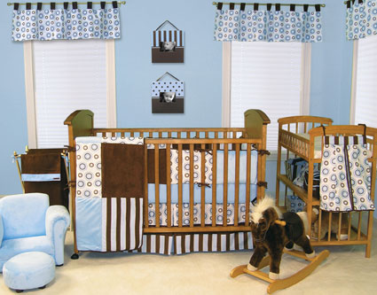 Blueberry 4 Pc Crib Bedding Set by Trend Lab Free Shipping