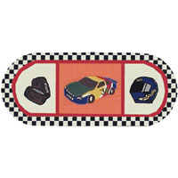 Race Car Kids Hall Runner Rug