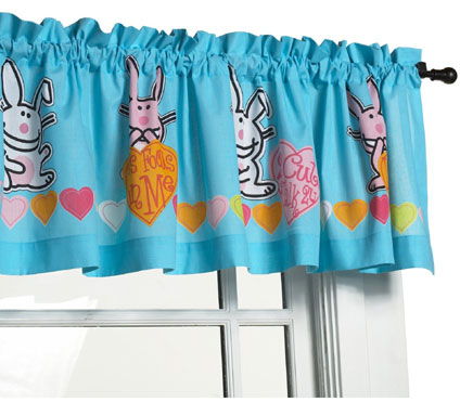 Happy Bunny Window Valance