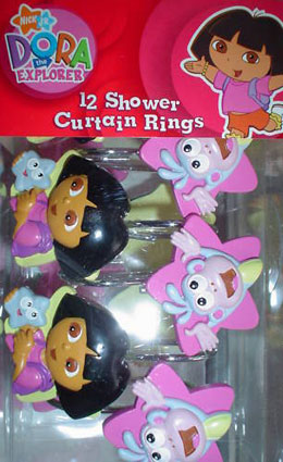 Dora The Explorer and Boots Shower Curtain Rings