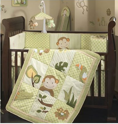 Little Papagayo 4 Piece Crib Bedding Set Free Shipping