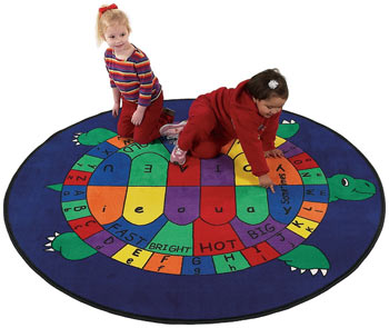Turtle Time Kids Activity Carpet