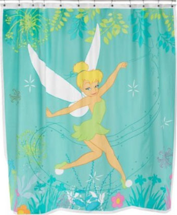Tinkerbell Vinyl Shower Curtain