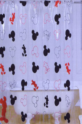 Disney Mickey Mouse Vinyl Shower Curtain