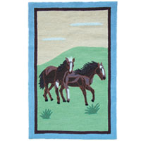 Horse Friends Kids Area Rug