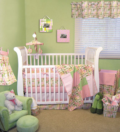 Nantucket Pink 4 Pc Crib Bedding Set Free Shipping