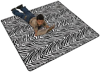 Zebra Stripes Kids Fun Carpet