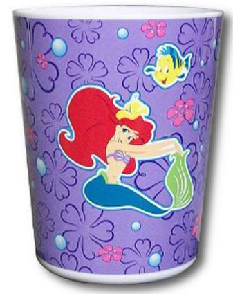 Little Mermaid Plastic Waste Basket