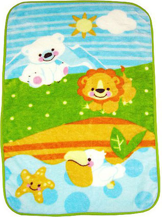 Precious Planet Toddler Plush Throw Blanket