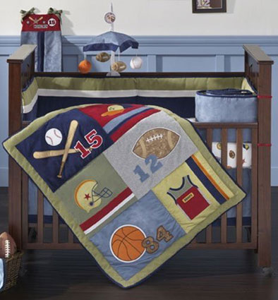 Little Playoffs 4 Piece Crib Bedding Set by Lambs & Ivy Free Shipping