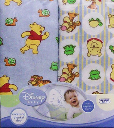 Out of stock Winnie The Pooh Baby Receiving Blankets 2 Pack