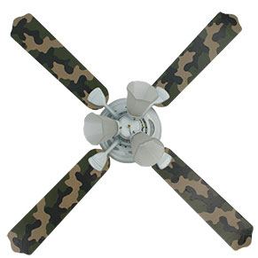 Out of Stock Camouflage Kids Ceiling Fan with Lights