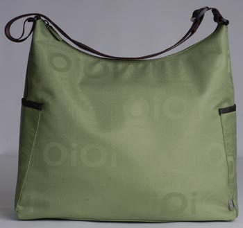 Green Jacquard Hobo Baby Diaper Bag