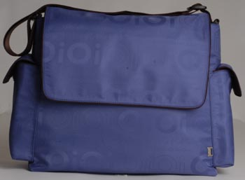 Blue Jacquard Messenger Baby Diaper Bag