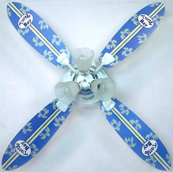 Out of Stock Turtle Bay Surfboard Childrens Ceiling Fan with Lights