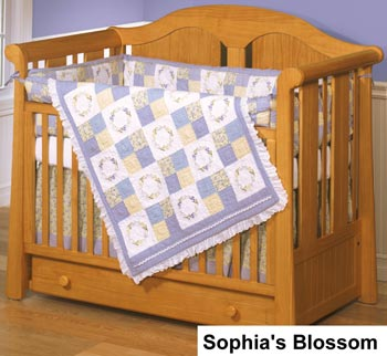 Sophia's Blossom 4-Piece Crib Bedding Set by ZZ Baby