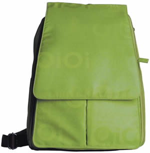 Lime Jacquard Backpack Baby Diaper Bag