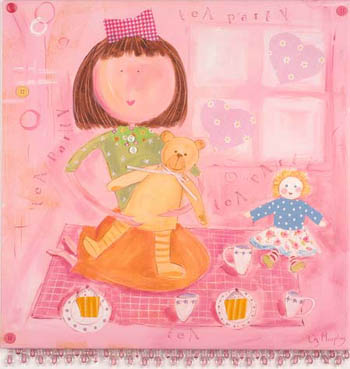 Tea Party Kids Giclee Canvas Reproduction Art