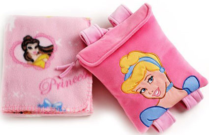 Disney Princess Travel Blanket and Backpack