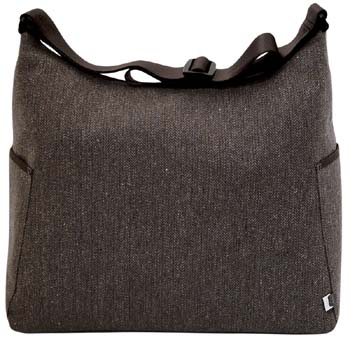 Chocolate Herringbone Hobo Baby Diaper Bag