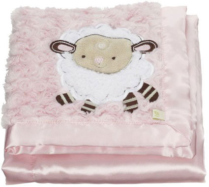 Fisher-price How Now Brown Cow - Farm Friends Plush Blanket in Pink