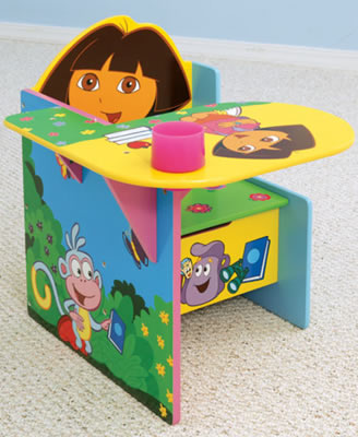 Out of Stock Dora The Explorer Chair Desk by Delta & Dora The Explorer Chair Desk by Delta - Childrenu0027s Table u0026 Chairs Sets