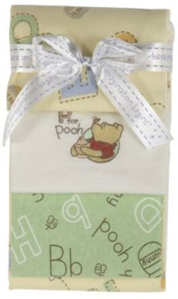 Winnie the Pooh Flannel Receiving Blankets 3-pack