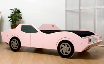 Corvette Pink Twin Bed
