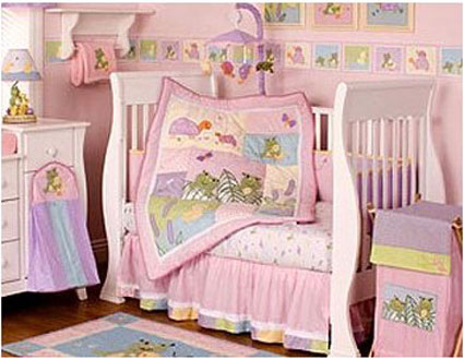 Froggie Love 6-Piece Crib Bedding Set By Kidsline Free Shipping