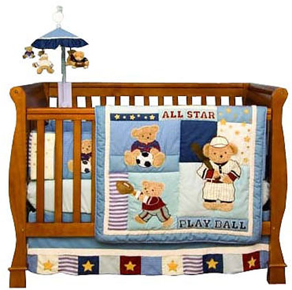 Play Ball 6 Piece Crib Bedding Set by Kidsline Free Shipping