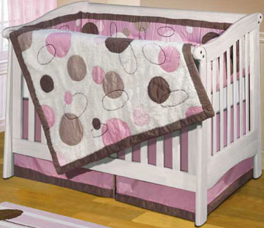 Oh BeBe Girl 4-Piece Crib Bedding Set by Anna Claire