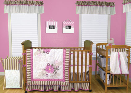 Olivia 4 Pc Crib Bedding Set by Trend Lab Free Shipping