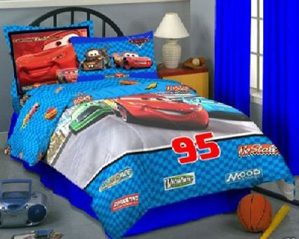 Disney Pixar Cars Twin / Full Comforter - 3D Plush
